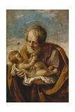 Joseph and the Christ Child in His Arms Giclee Print by Guido Reni