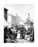 Mayrena Fair, Engraved by Bayot, 1842 Giclee Print by Jenaro Perez Villaamil
