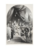 King John Sealing Magna Carta, Engraved by W. French Giclee Print by James Lonsdale