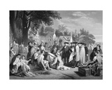 William Penn's Treaty with the Indians, Engraved by W. French Giclee Print by Benjamin West