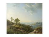 View over Heidelberg, 1837 Gicléedruk van Barend Cornelis Koekkoek