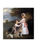 The Marquis of Granby and Lady Elizabeth Manners, as Children Giclee Print by Sir Joshua Reynolds