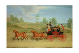 The Manchester and London Royal Mail Coach Giclee Print by James Pollard