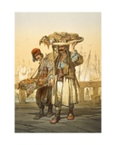 Bread Sellers on the Quay, 1865 Giclee Print by Amadeo Preziosi