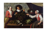 The Vegetable Seller Giclée-Druck von Adriaen van Utrecht