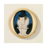 Miniature of an Unknown Woman, 1602 Giclee Print by Nicholas Hilliard