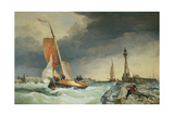 Zuider Zee - Boat Returning to Port Giclee Print by Edward William Cooke