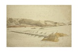 Bridge of Boats over Indus Near Peshawar, 1836 Giclee Print by Godfrey Thomas Vigne