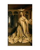 Virgin Annunciate, from the Exterior of the Right Panel of the Ghent Altarpiece, 1432 Giclee Print by Hubert & Jan Van Eyck