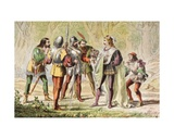 Speed Speaks in the Two Gentlemen of Verona, 'Master, Be One of Them', from 'The Illustrated… Giclee Print by Robert Dudley