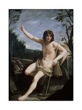 St. John the Baptist in the Wilderness, C.1636-37 Giclée-Druck von Guido Reni