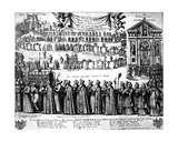 Procession of the Shrine of St. Germain and Others from the Abbey of Saint-Germain-Des-Prés to… Giclee Print by Nicolas Cochin