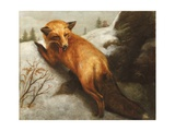 The Red Fox, 1870 Giclee Print by Abbott Handerson Thayer