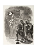 Hamlet, Horatio and Marcellus See the Ghost, from 'The Illustrated Library Shakespeare',… Giclee Print