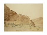 Gulfo's Castle on the Rock of Skardu, Upper Indus Valley, Baltistan, 1835 Giclee Print by Godfrey Thomas Vigne
