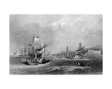 Gravesend, Engraved by Henry Adlard, C.1830 Giclee Print by William Henry Bartlett