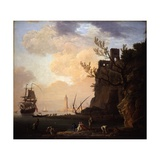 An Italianate Harbour Scene, 1749 Giclee Print by Claude Joseph Vernet