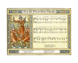 We Be Soldiers Three', Song Illustration from 'Pan-Pipes', a Book of Old Songs, Newly Arranged… Giclee Print by Walter Crane
