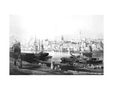 View of the Port and Town of Newcastle Upon Tyne, from the Rope Walk, Gateshead, Engraved by… Giclee Print by Thomas Miles Richardson