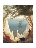 Chalk Cliffs on Rugen, C.1818 Giclée-tryk af Caspar David Friedrich