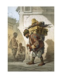 A Porter of Goods, 1865 Giclee Print by Amadeo Preziosi
