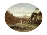 Valley with Ruins and Figures, C.1627 Giclee Print by Cornelis Van Poelenburgh Or Poelenburch