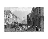 Market Day in Dartford, Kent, Engraved by Henry Adlard, C.1830 Giclee Print by George Shepherd