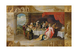 Christ in the House of Simon the Pharisee, 1637 Giclee Print by Frans II the Younger Francken