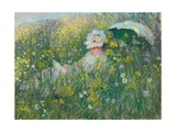 In the Meadow, 1876 Giclee Print by Claude Monet