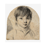 Head of a Young Boy Giclee Print by Louis Leopold Boilly