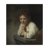 Girl at a Window, 1645 Giclee Print by  Rembrandt van Rijn