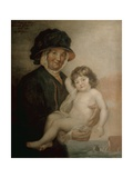 Martha Gunn and the Prince of Wales, C.1762 Giclee Print by John Russell