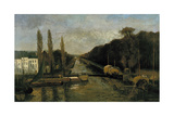 The Porte Du Rivage in Brussels, 1877 Giclee Print by Alphonse Asselbergs