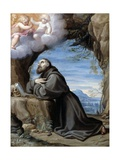 St. Francis in Meditation, Early 1580s Giclee Print by Lodovico Carracci