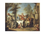 Don Quixote at the Inn Giclee Print by Charles Antoine Coypel