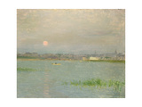 Rising Moon, Galway Harbour Giclee Print by Walter Frederick Osborne