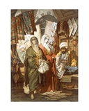 The Silk Bazaar, 1865 Giclee Print by Amadeo Preziosi