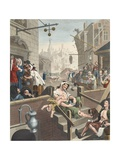 Gin Lane, Illustration from 'Hogarth Restored: the Whole Works of the Celebrated William Hogarth,… Giclee Print by William Hogarth