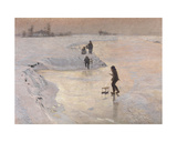 Skaters, 1891 Giclee Print by Emile Claus