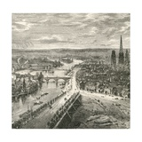 A View of Rouen, Normandy, in the Nineteenth Century, from 'French Pictures' by Rev. Samuel G.… Giclee Print