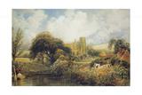Llandaff, 1829 Giclee Print by Peter De Wint