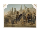 Women Bringing Water from the Nile, 1860 Giclee Print by Henri De Montaut
