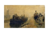 Conveying Prisoners of War by 'The Spaniard', 1885 Giclee Print by Charles Gogin