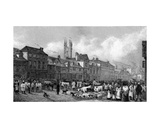 Market Day at Ashford, Kent, Engraved by T. Garner, 1830 Giclee Print by George Sidney Shepherd
