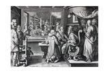 Ser, Sive Sericus Vermis, Plate 9 from 'Nova Reperta', Engraved by Philip Galle, C.1580-1605 Giclee Print by Jan van der Straet