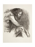 Timon in His Cave in Timon of Athens, from 'The Illustrated Library Shakespeare', Published… Giclee Print