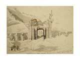 Gate of Ruins in Baramula Pass, Jhelum Valley, Kashmir, 1836 Giclee Print by Godfrey Thomas Vigne