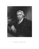 Edward Jenner, Engraved by E. Scriven Giclee Print by John Raphael Smith