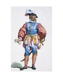 Officer of the Swiss Army, 1780 Giclee Print by Pierre Duflos
