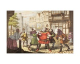 Mrs Quickly Has Sir John Falstaff Arrested in Henry IV, Part 2, from 'The Illustrated Library… Giclee Print by George Cruikshank